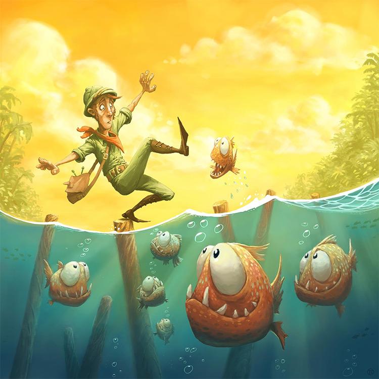 piranha board game cover