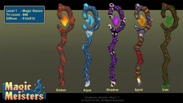 magic staves elements