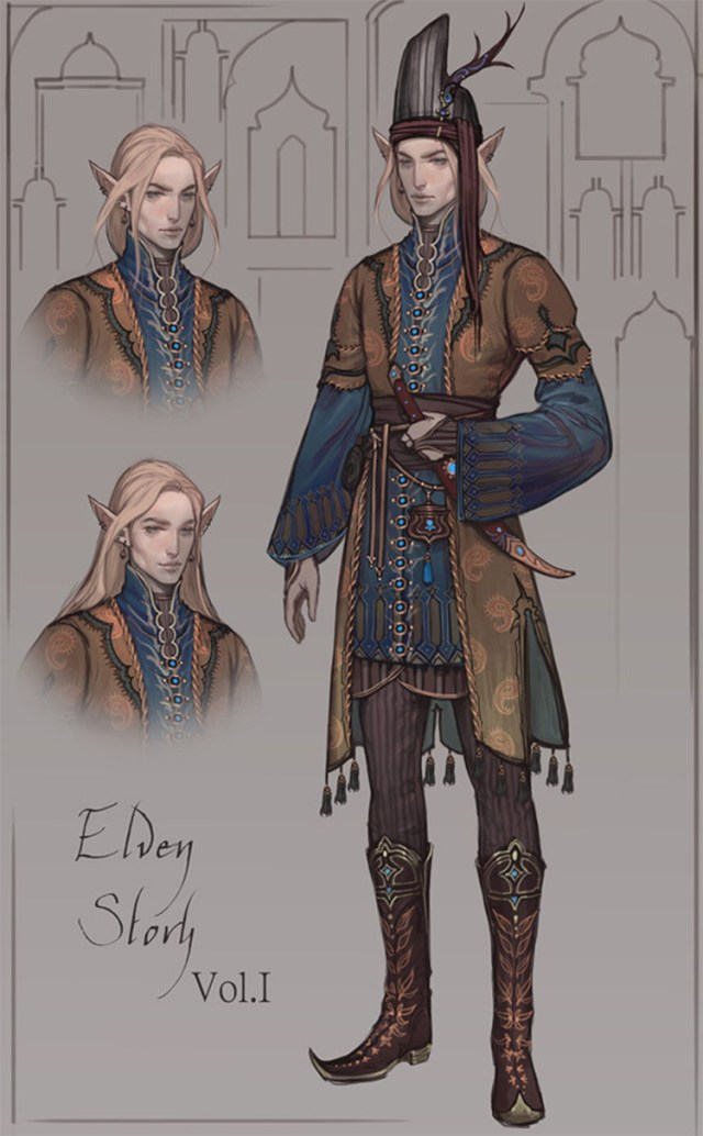 elven story character art