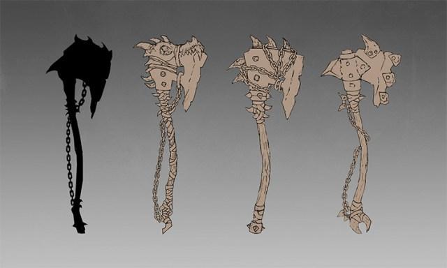 orc axe battle concept