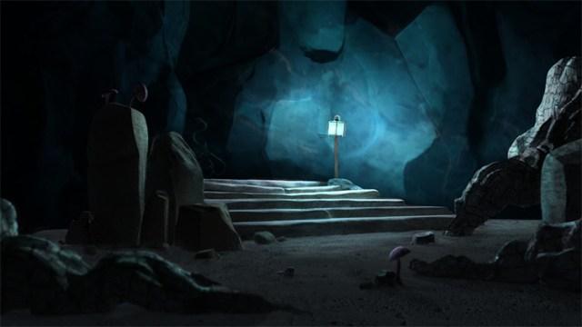 dark blue cave design
