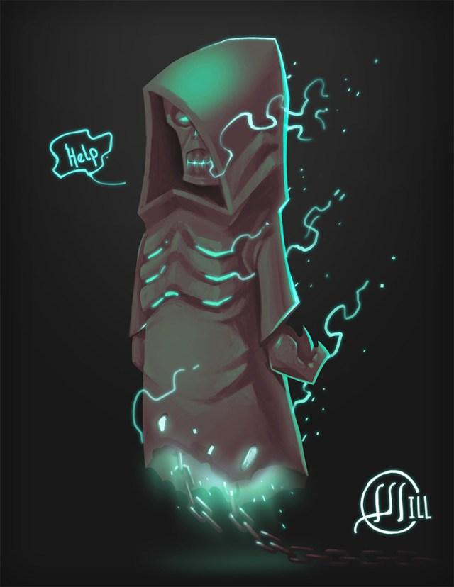 little ghost creature concept