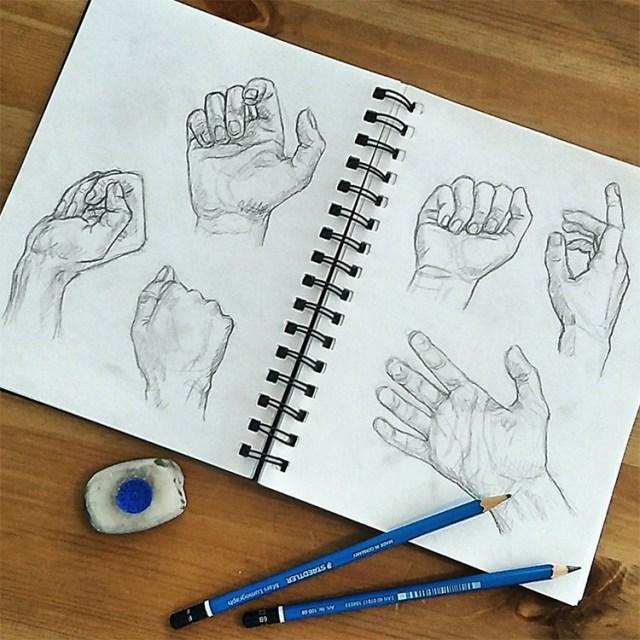 Beautiful hand drawings realism