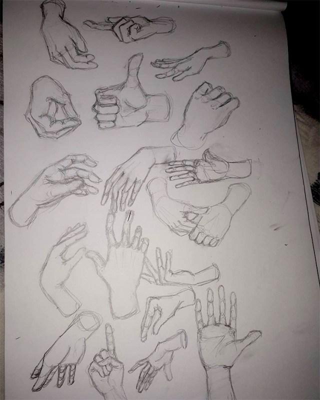 Beginner hand drawing practice
