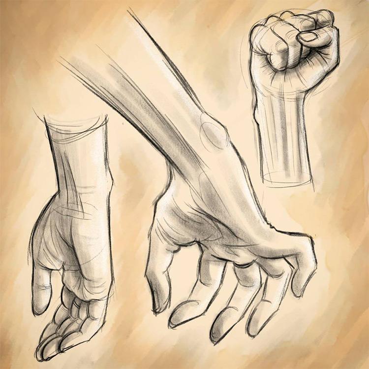 Digital hand & fist drawings