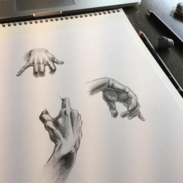 Realism practice in sketchbook