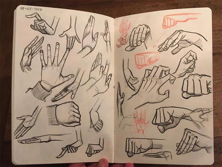 Cartoony style hand drawings