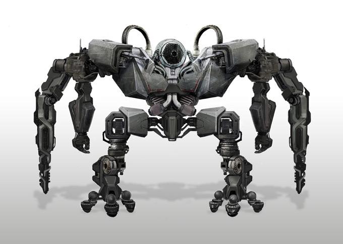 Robot Concept Art by Aaron Lam