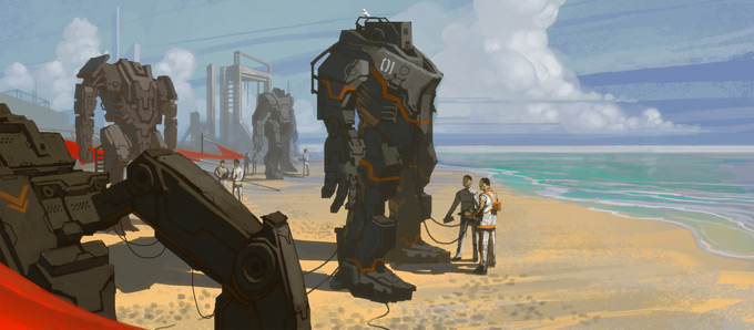 Robot Concept Art by William Smith