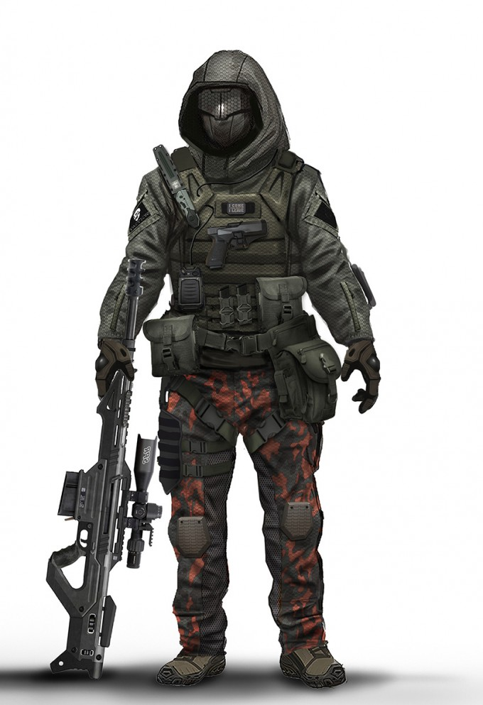 Sci Fi Armor Special Ops