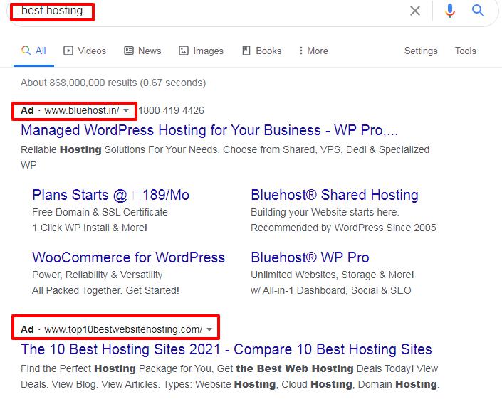 best hosting Google Search 1