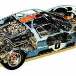 Ford Gt40 Cutaway Drawing In High Quality