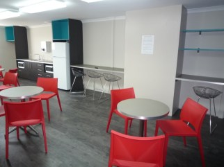 Colourful tea prep unit supplied and installed in office