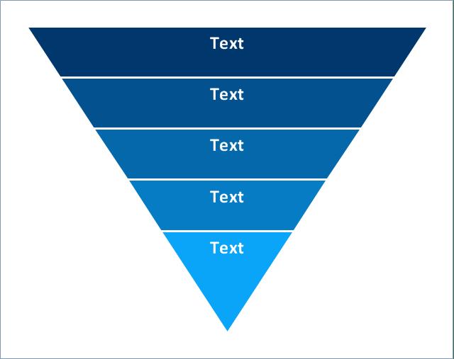 Pyramid Diagram 5 Level Funnel Diagram