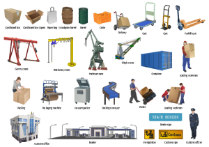 Truck vehicle clipart | Design elements  Packaging, loading, customs | Industrial transport