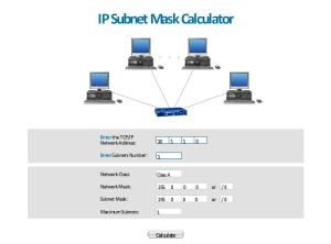 IP Sub mask calculator  Template | Telemunication
