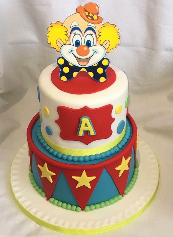 gateau anniversaire clown