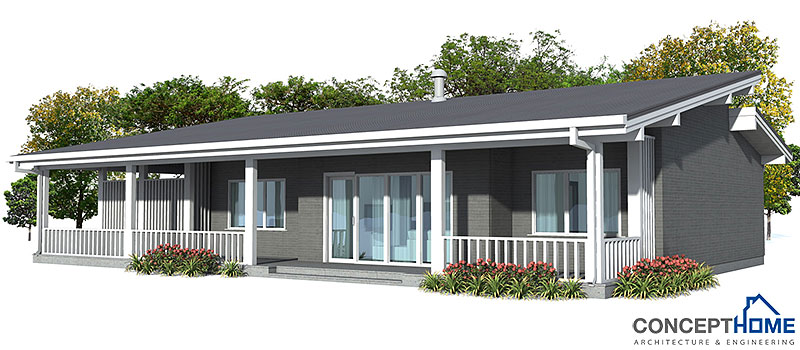 Small House Plan CH23 Detailed Building Info. Floor Plans
