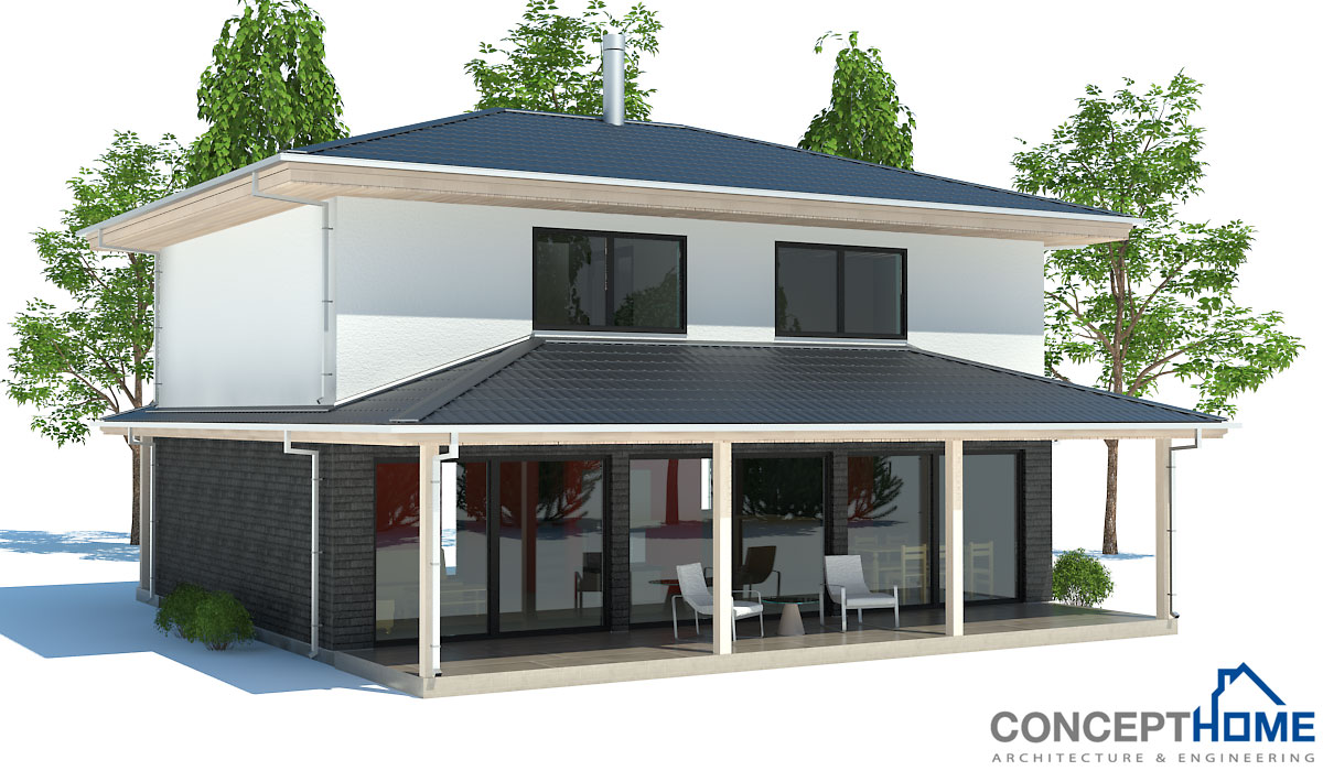 Affordable House Plan With Two Bedrooms. Three Bedrooms