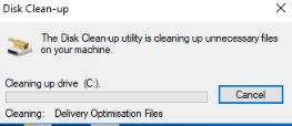 Disk Clean up process