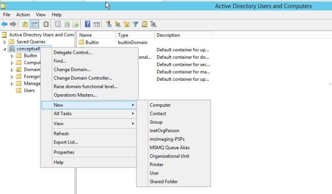 OU options in Active Directory