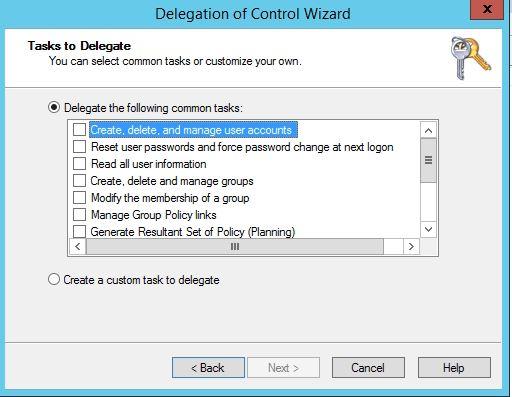 Task to delegate