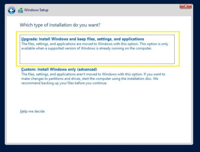 Windows Installation Options in server 2012