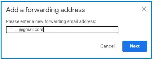 Add a Forwarding address in Gmail