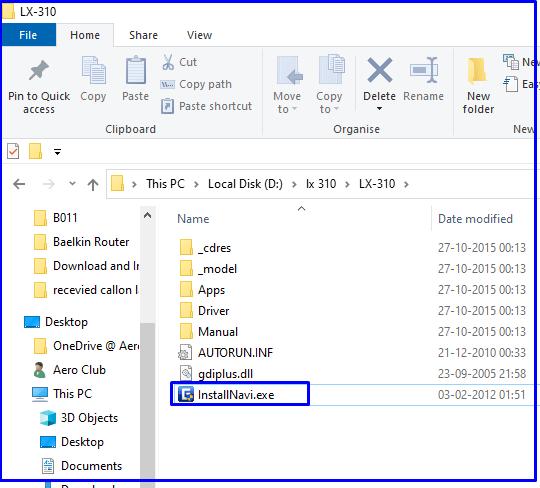 Install Navi files