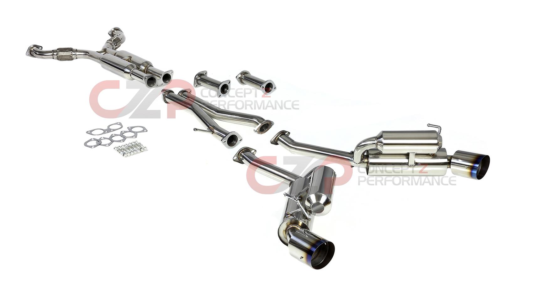 Dna Motoring True Dual Catback Exhaust System W Burnt Tips