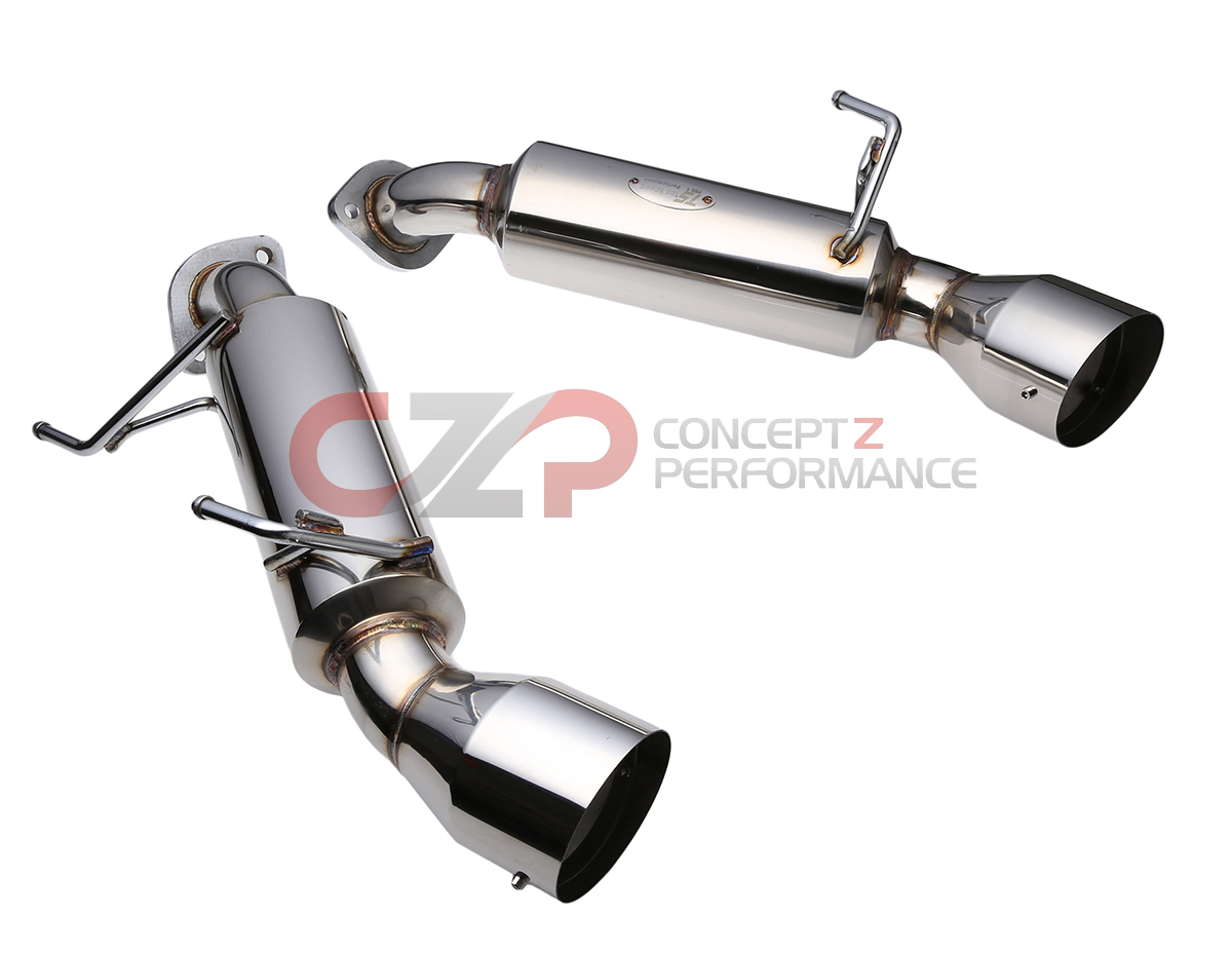 top speed pro 1 stainless steel axle back exhaust system straight tips nissan 370z infiniti g37 q60 coupe catback g37 coupe concept z