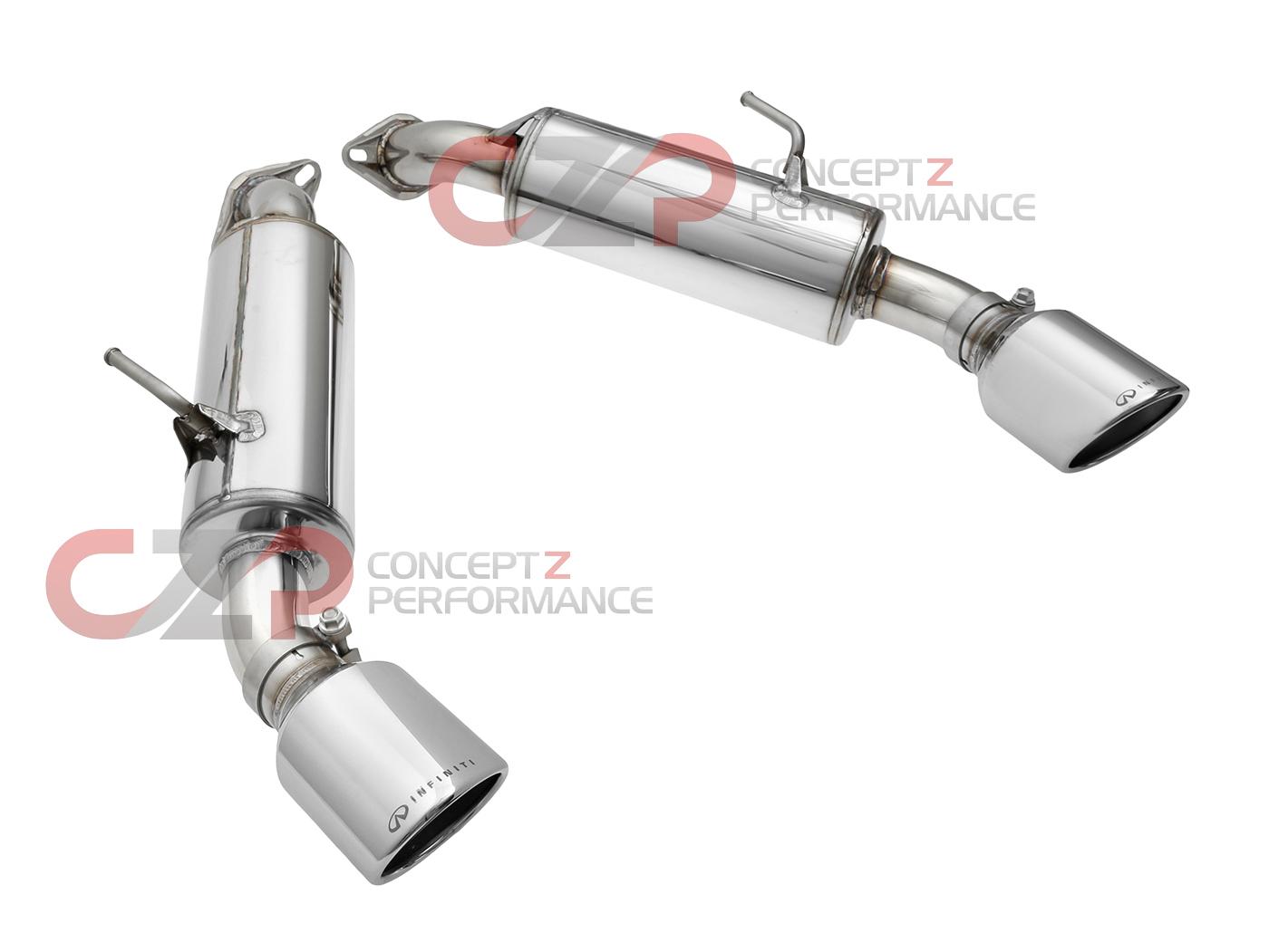 nissan infiniti infiniti sport exhaust w mufflers axle back exhaust system infiniti q50 14 15 v37 b0100 q50sm concept z performance