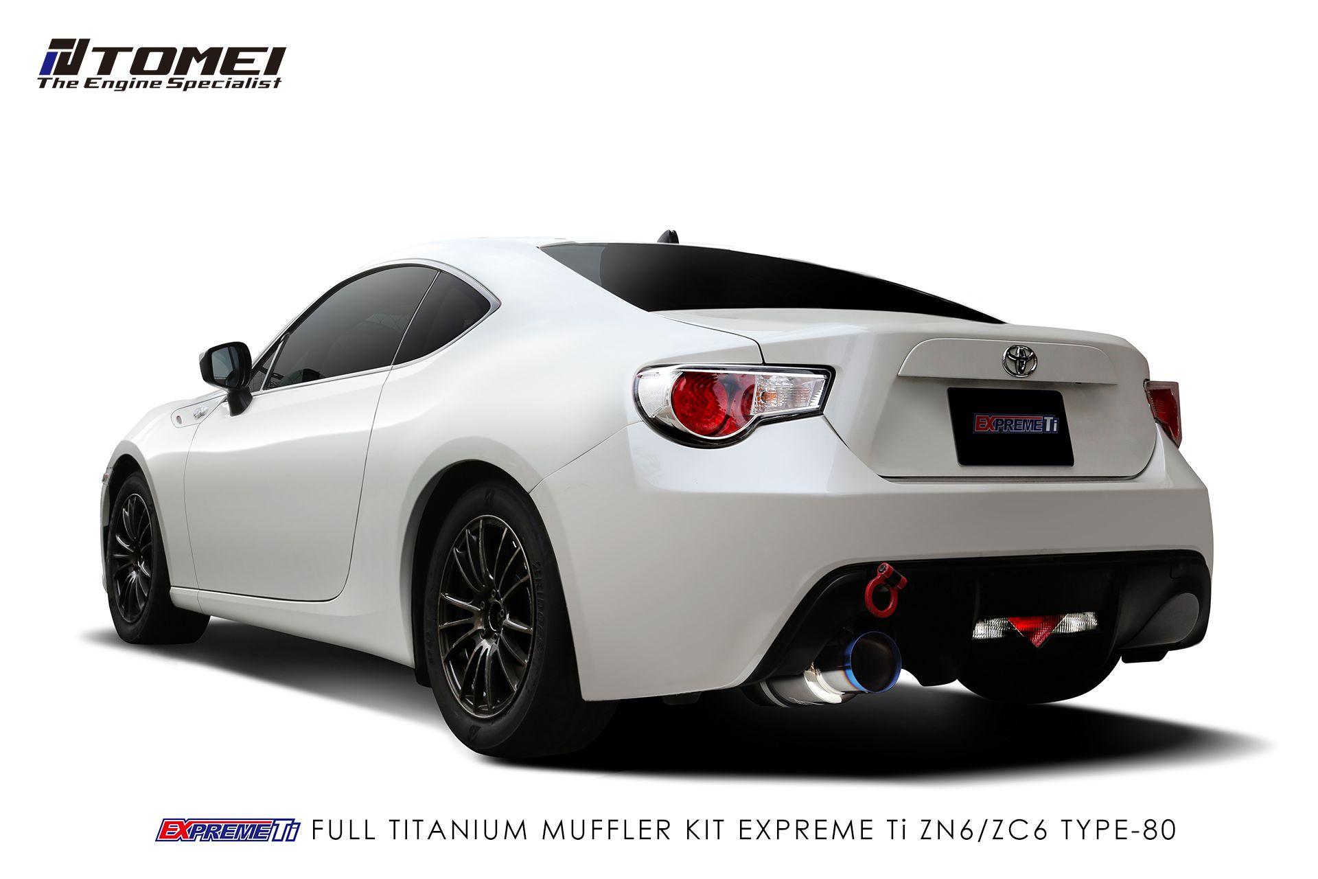 tomei expreme ti full titanium cat back exhaust system type 80 scion fr s 13 subaru brz 13 toyota 86 17 zn6 zc6 tb6090 sb03c concept z