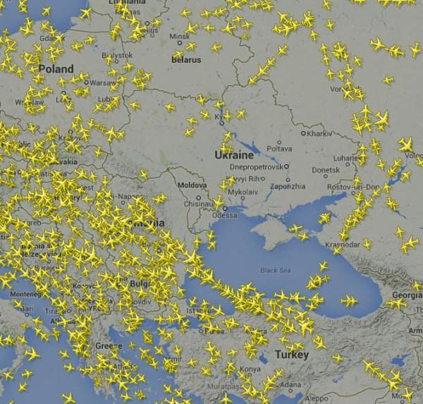 east ukraine air space