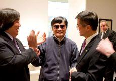 US Ambassador Gary Locke with Chen Guangcheng, May 1, 2012