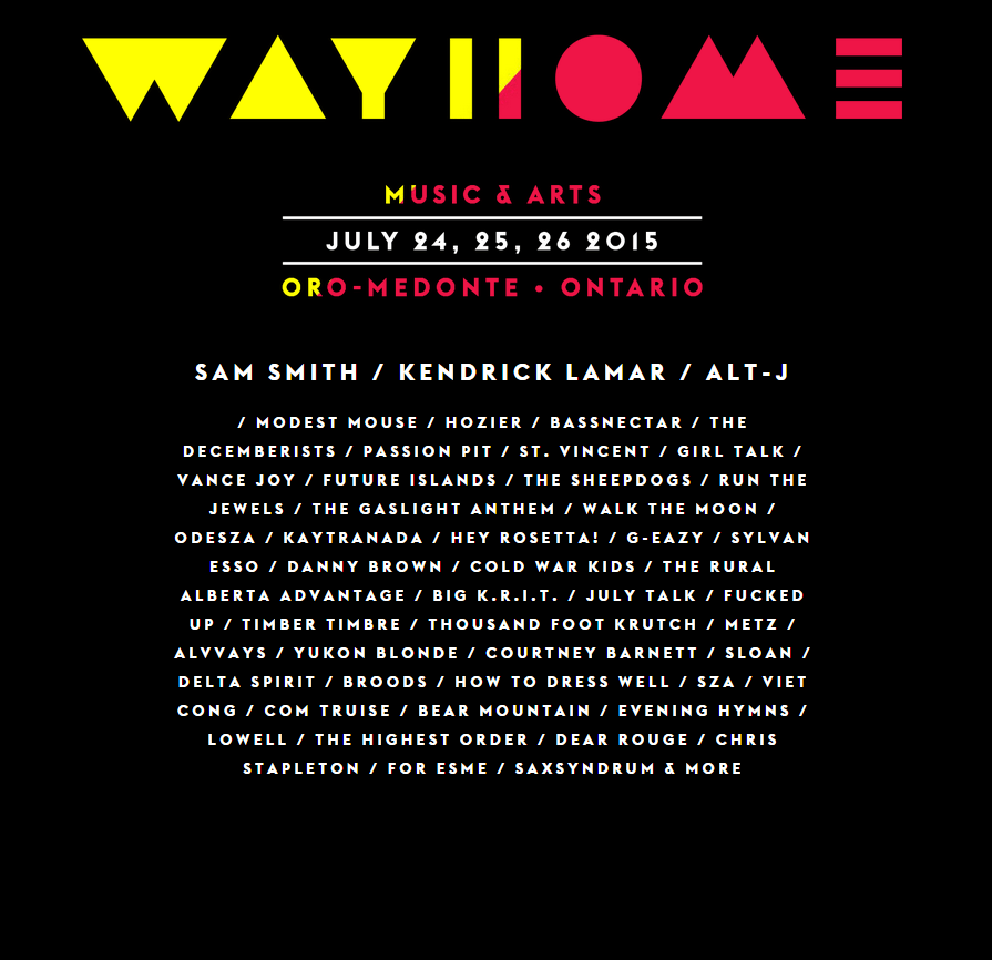 wayhome music and arts festival 2015