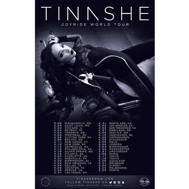 Tinashe Announces World Tour for 2016