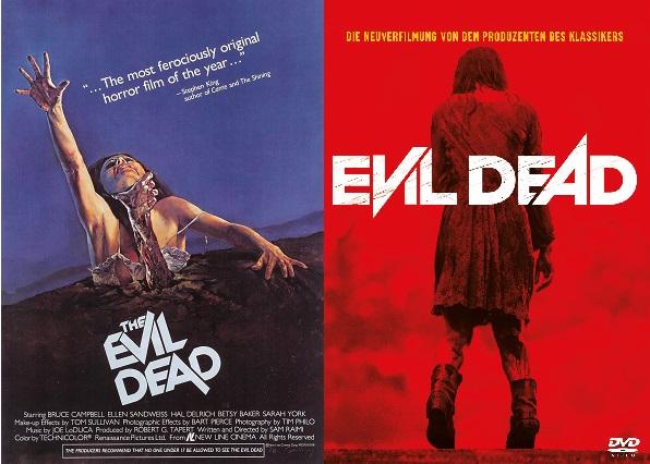 Evil Dead [1981] vs Evil Dead [2013] cover poster