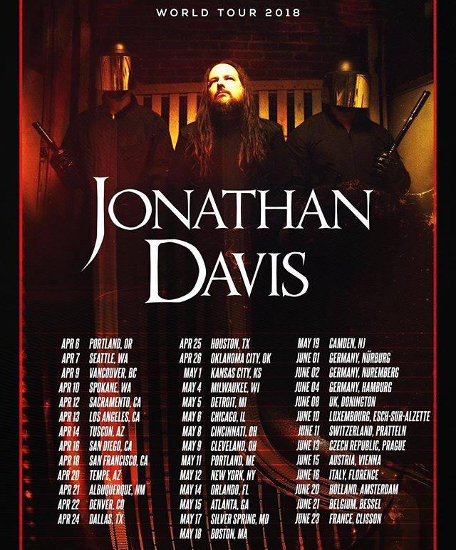 Jonathan Davis of Korn Announces 2018 Solo Tour