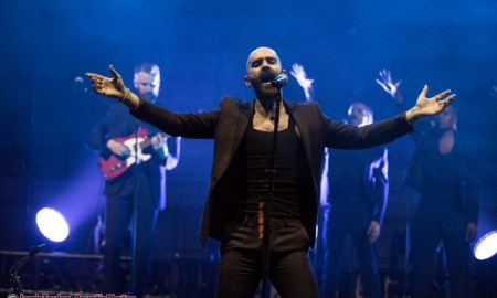 Sam Harris of X Ambassadors performing at the Orpheum Theatre in Vancouver, BC on May 8th, 2018