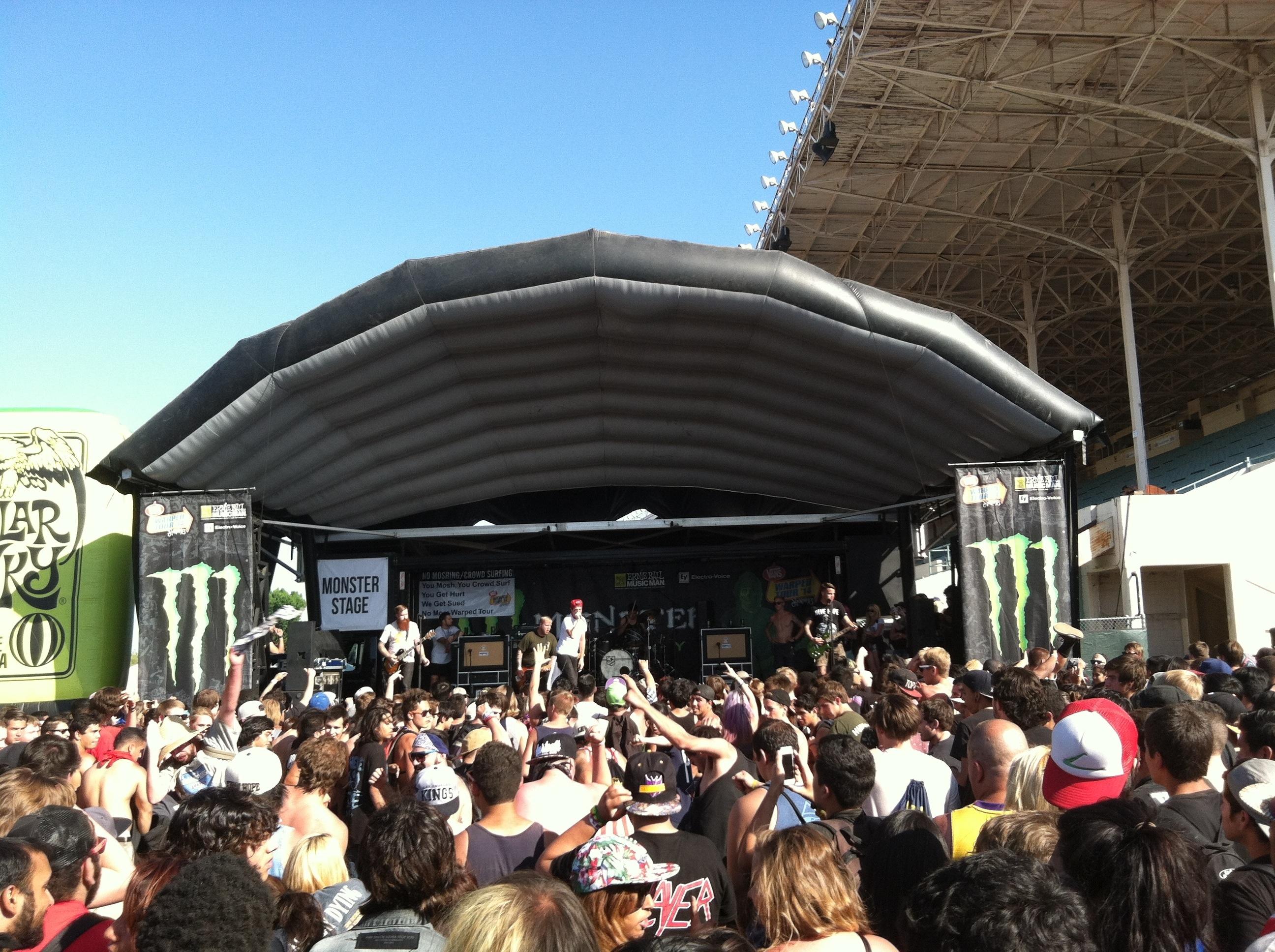 Warped Tour Pomona  Set Times