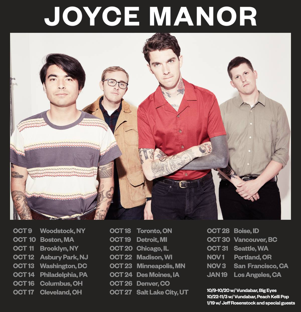 Joyce Manor Fall U.S. Tour 2018
