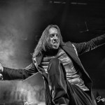 Andrea Ferro performing with Lacuna Coil at the Soul Kitchen in Mobile