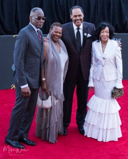 Erma Gray Davis and friends at the 34th Stellar Awards held at Orleans Arena, Las Vegas on March 29, 2019 in Las Vegas, NV, USA (Photo by: Mike Ware/Sipa USA)