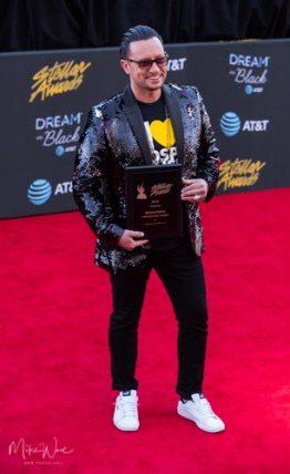 Bryan Popin at the 34th Stellar Awards held at Orleans Arena, Las Vegas on March 29, 2019 in Las Vegas, NV, USA (Photo by: Mike Ware/Sipa USA)