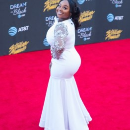 Jekaylyn Carr at the 34th Stellar Awards held at Orleans Arena, Las Vegas on March 29, 2019 in Las Vegas, NV, USA (Photo by: Mike Ware/Sipa USA)