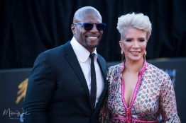 Terry Crews & his wife Rebecca at the 34th Stellar Awards held at Orleans Arena, Las Vegas on March 29, 2019 in Las Vegas, NV, USA (Photo by: Mike Ware/Sipa USA)