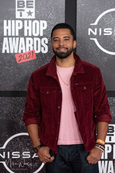 Christian Keyes - Actor/Model on the Red Carpet, 2021 BET Hip Hop Awards Atlanta, Ga. 10-1-21 (Photo By: Mike Ware/SIPA USA)