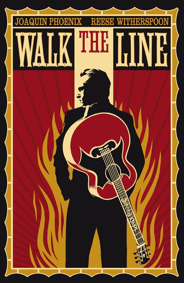 johnny cash poster walk the line movie