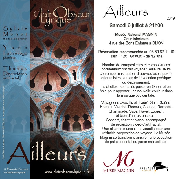 Clair Obscur lyrique, Musée Art Sacré à Dijon, piano Prévalet Musique